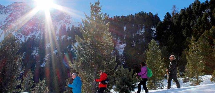 Schneeschuhwandern ©NATURPARK ÖTZTAL P. Platner