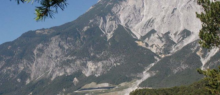Bergsturz Forchet ©W. Schwarz - Naturpark Ötztal