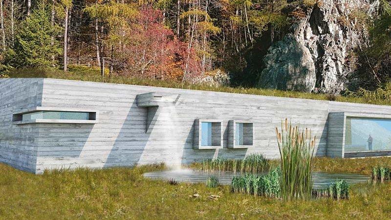 Visualisierung Naturpark Haus ©Architekt Hanno Schlögl