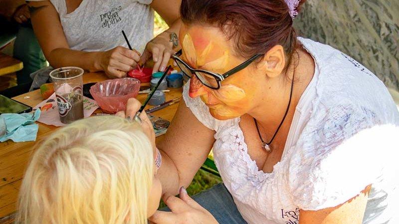 Naturpark Familienfest Kinderschminken - ©Christian Suban